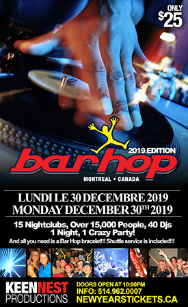 Barhop Montreal 2019 (Dec 30th 2019)